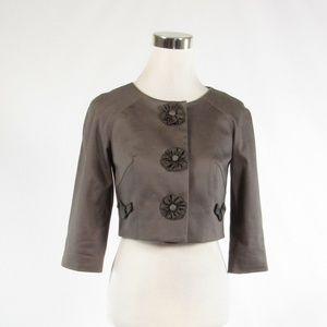 Baraschi taupe 3/4 sleeve bolero jacket 2